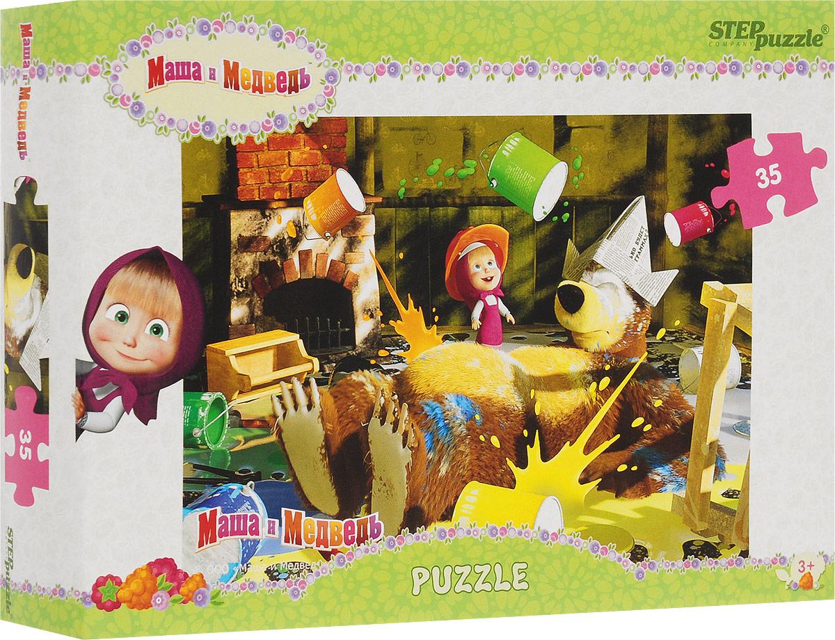 Step Puzzle Пазл для малышей Маша и Медведь 91120 набор step puzzle пластиковых кубиков анимаккорд 9шт маша и медведь