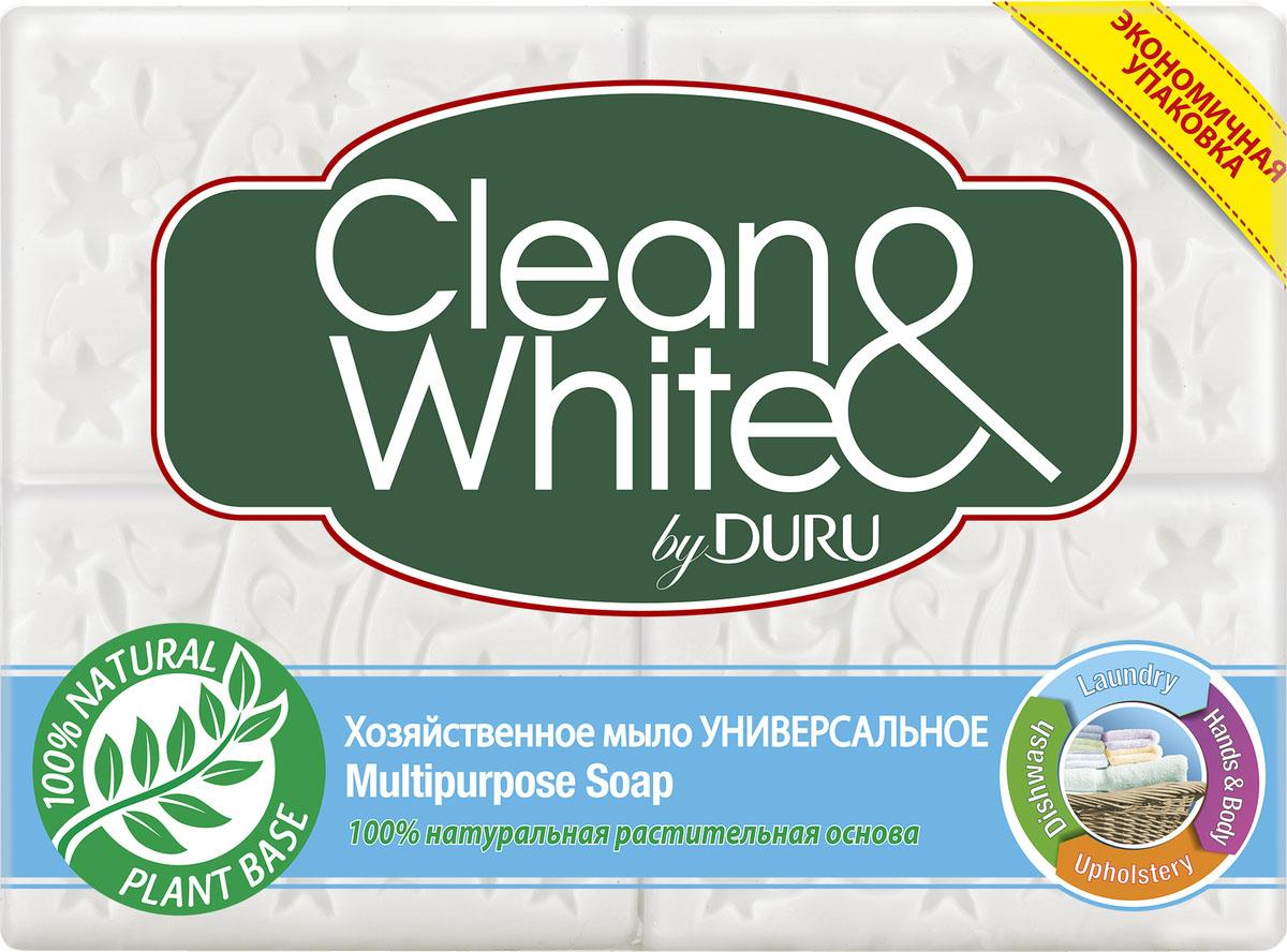 Duru Clean&White Хозяйственное Мыло Класс Унив.э/пак 4*125г8000327745Хозяйственное мыло Duru подходит для любого использования: от стирки до личной гигиены. Это мыло можно использовать как в холодной, так и в горячей воде, оно не вызывает аллергии,а благодаря содержанию глицерина и смягчающими компонентами, обеспечивает коже дополнительный уход.. Белоснежного цвета,с легким приятным запахом. Гипоаллергенное.