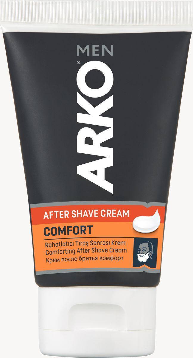 Arko Men Крем после бритья Сomfort 50 мл80050855322Крем после бритья Arko Men - самое доступное средство для ухода за кожей после бритья. Благодаря специальной формуле, в составе которой входит витамин Е и аллантоин, крем после бритья Arko Men смягчает и освежает кожу, а такжебыстро заживляет порезы. Приятный аромат крема на протяжениии долгого времени остается на коже.