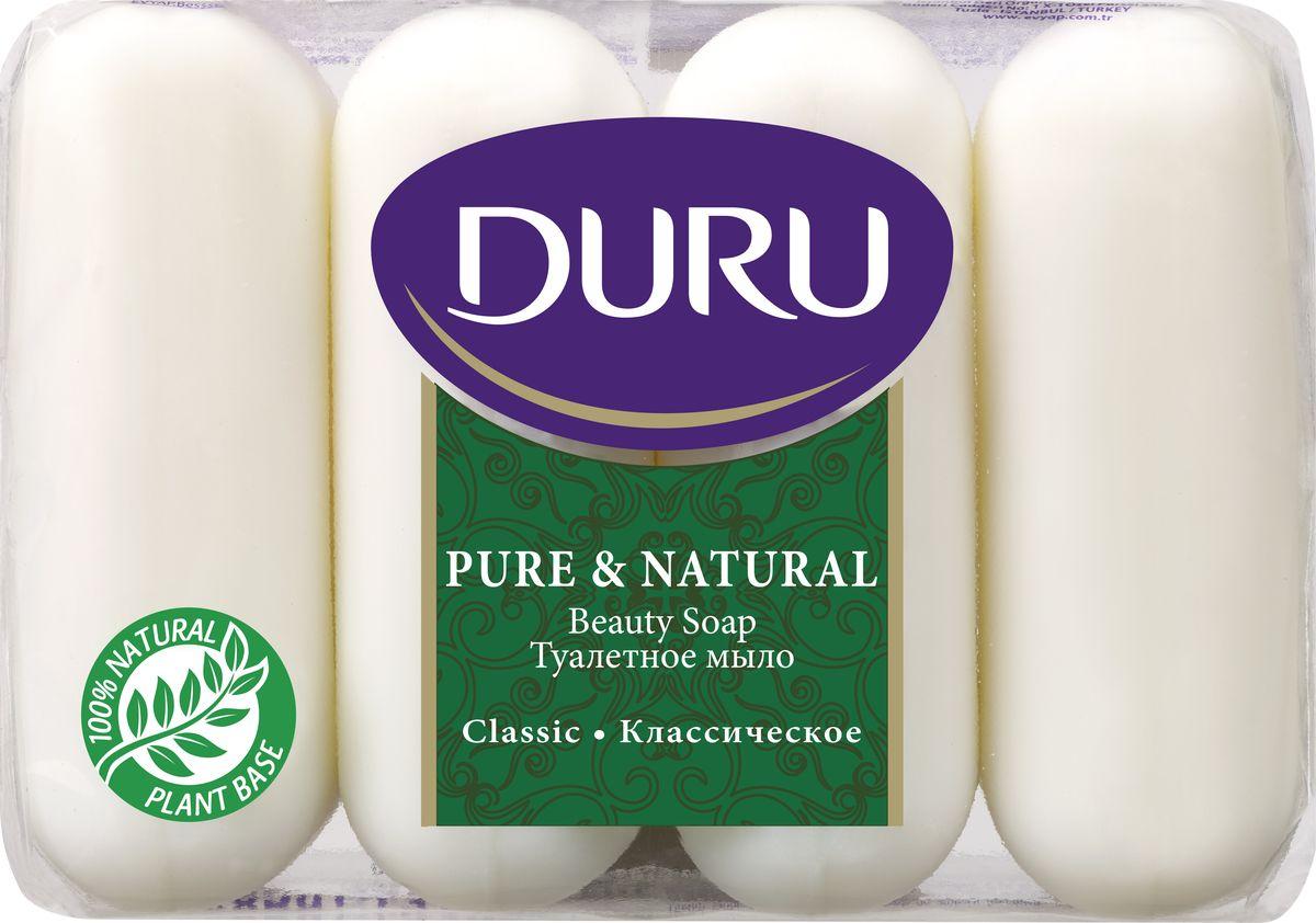Duru Pure&NatМыло Классик э/пак 4*85г220643Бережное туалетное мыло с нежными природными ароматами