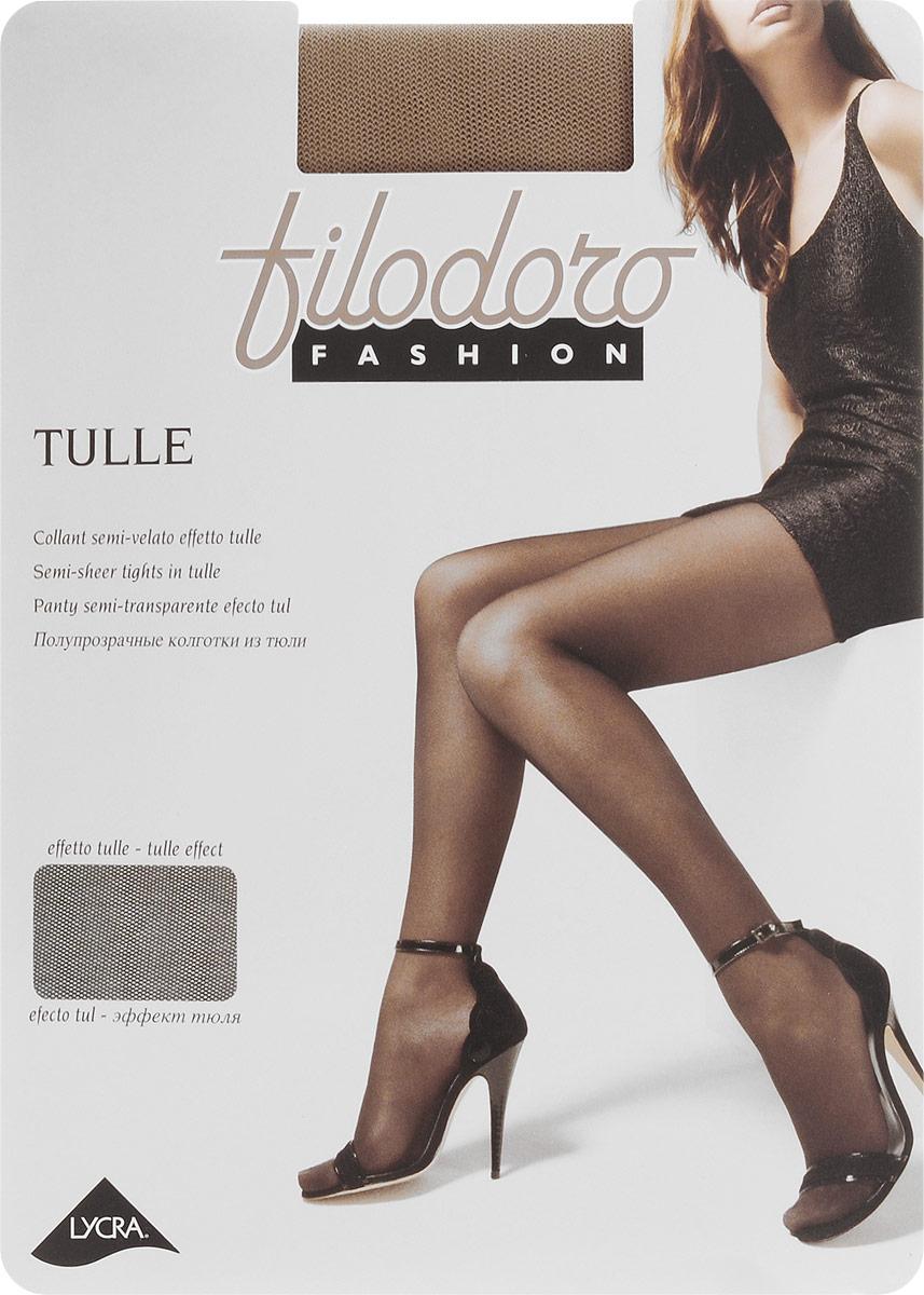 Колготки женские Filodoro Fashion Tulle, цвет: Playa (телесный). G113262FG. Размер 4 (L) колготки filodoro ninfa размер 2 плотность 40 den vita bassa playa