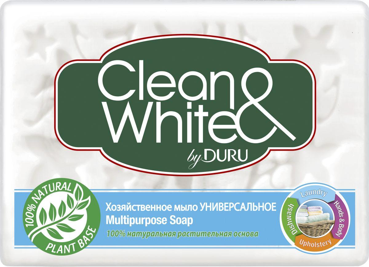 Duru Clean&White Хозяйственное Мыло Унив. 125г80003277453Хозяйственное мыло Duru подходит для любого использования: от стирки до личной гигиены. Это мыло можно использовать как в холодной, так и в горячей воде, оно не вызывает аллергии,а благодаря содержанию глицерина и смягчающими компонентами, обеспечивает коже дополнительный уход.. Белоснежного цвета,с легким приятным запахом. Гипоаллергенное.