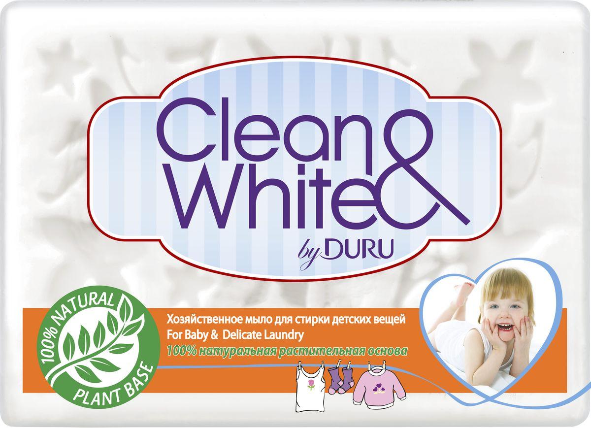 Duru Clean&White Хозяйственное Мыло для стирки детского белья 125г8000327681Хозяйственное мыло Duru подходит для любого использования: от стирки до личной гигиены. Это мыло можно использовать как в холодной, так и в горячей воде, оно не вызывает аллергии,а благодаря содержанию глицерина и смягчающими компонентами, обеспечивает коже дополнительный уход.. Белоснежного цвета,с легким приятным запахом. Гипоаллергенное. Уважаемые клиенты! Обращаем ваше внимание на то, что упаковка может иметь несколько видов дизайна. Поставка осуществляется в зависимости от наличия на складе.