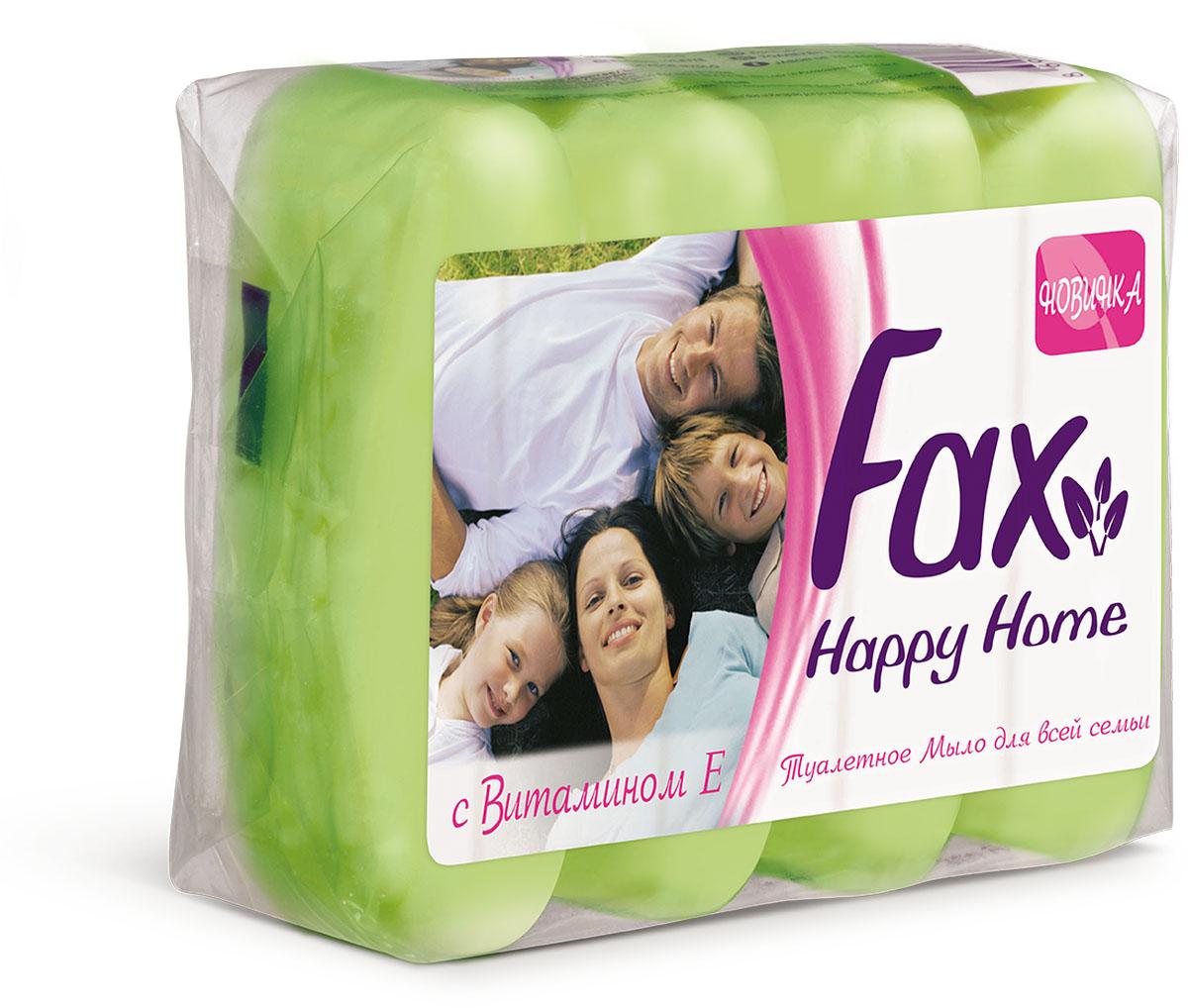 Fax Happyhome Мыло зеленое э/пак 4*70г800198523Это линия экономичных средств для гигиены рук и тела. Многообразие ароматов и свойств туалетного мыла Fax позволяют всей семье наслаждаться ощущениями чистоты и свежести. Все продукты серии туалетного мыла Fax Family содержат в составе витамин E, ухаживающий за кожей, а также экстракты ягод и цветов, придающих продукту приятные ароматы. Душистый аромат спелой клубники - настоящая ароматерапия для вашей кожи. Это мыло обязательно заставит вспомнить лето.