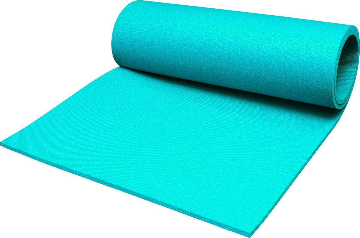 Коврик туристический Пенолон, цвет: бирюзовый, 180 х 60 х 1 см коврик домашний sunstep цвет кремовый 120 х 170 х 4 см