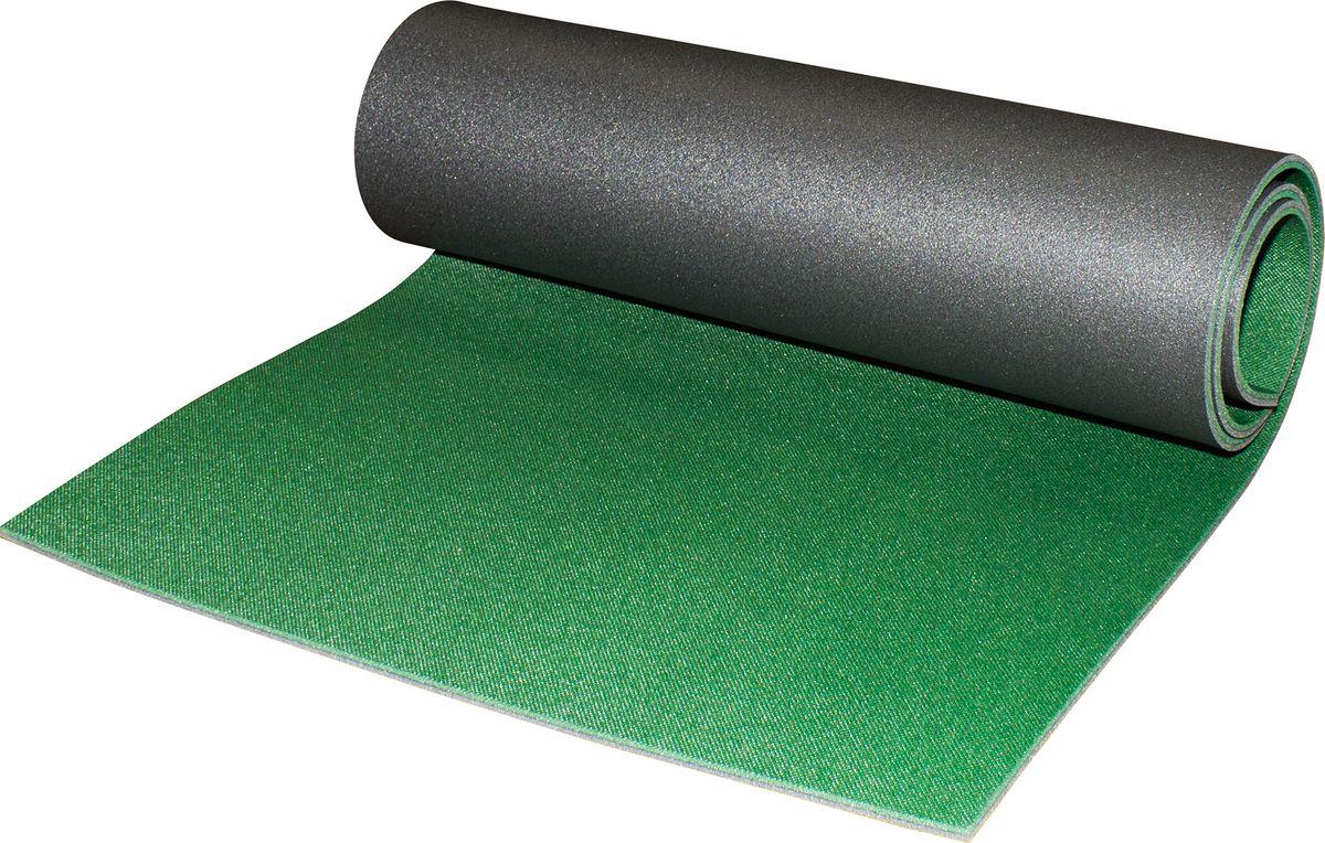 Коврик альпиниста Пенолон, двухслойный, цвет: темно-зеленый, антрацит, 180 х 60 х 0,8 см