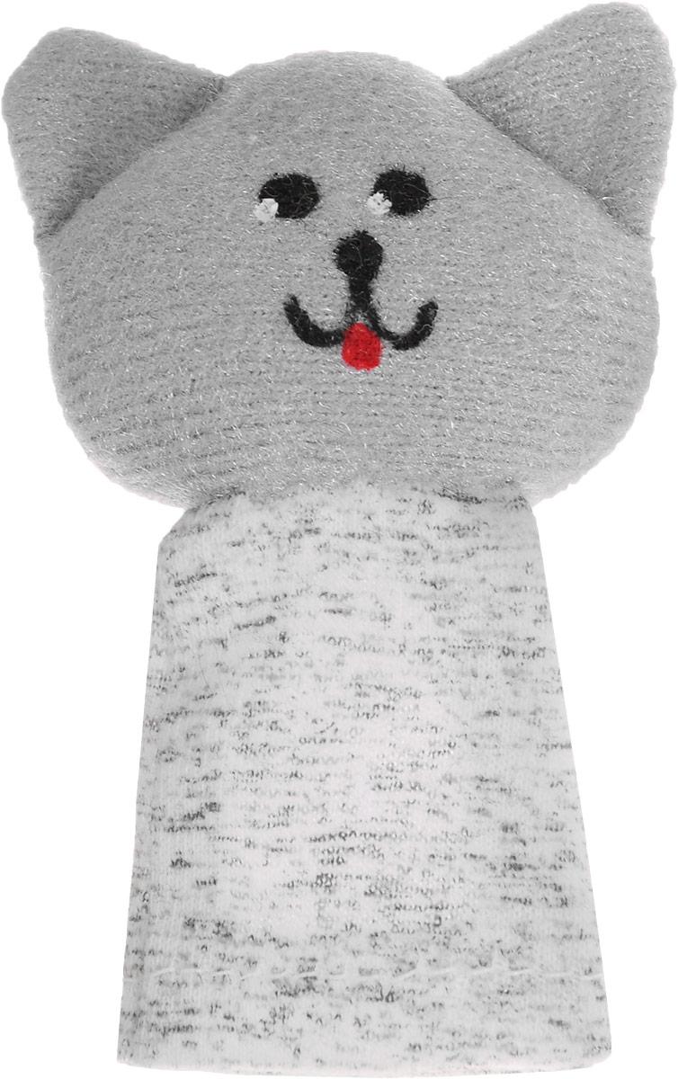 Наивный мир Кукла пальчиковая Кошка Мурка цвет серый