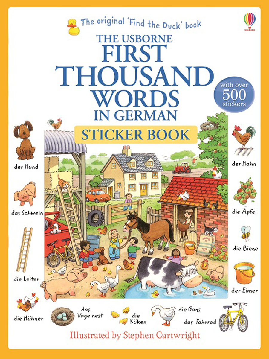 First Thousand Words in German Sticker Book first hundred words in english sticker book