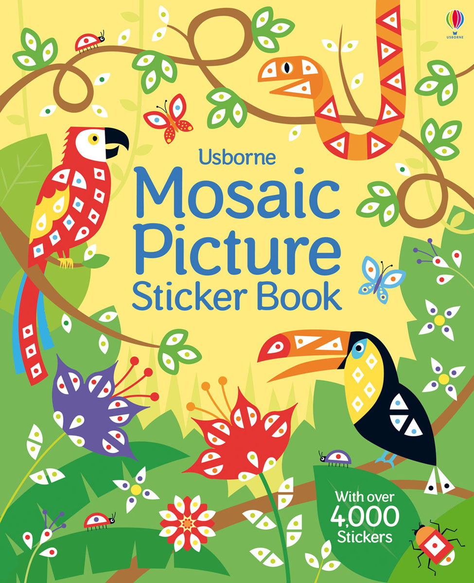 Mosaic Picture Sticker Book sticker picture atlas of europe