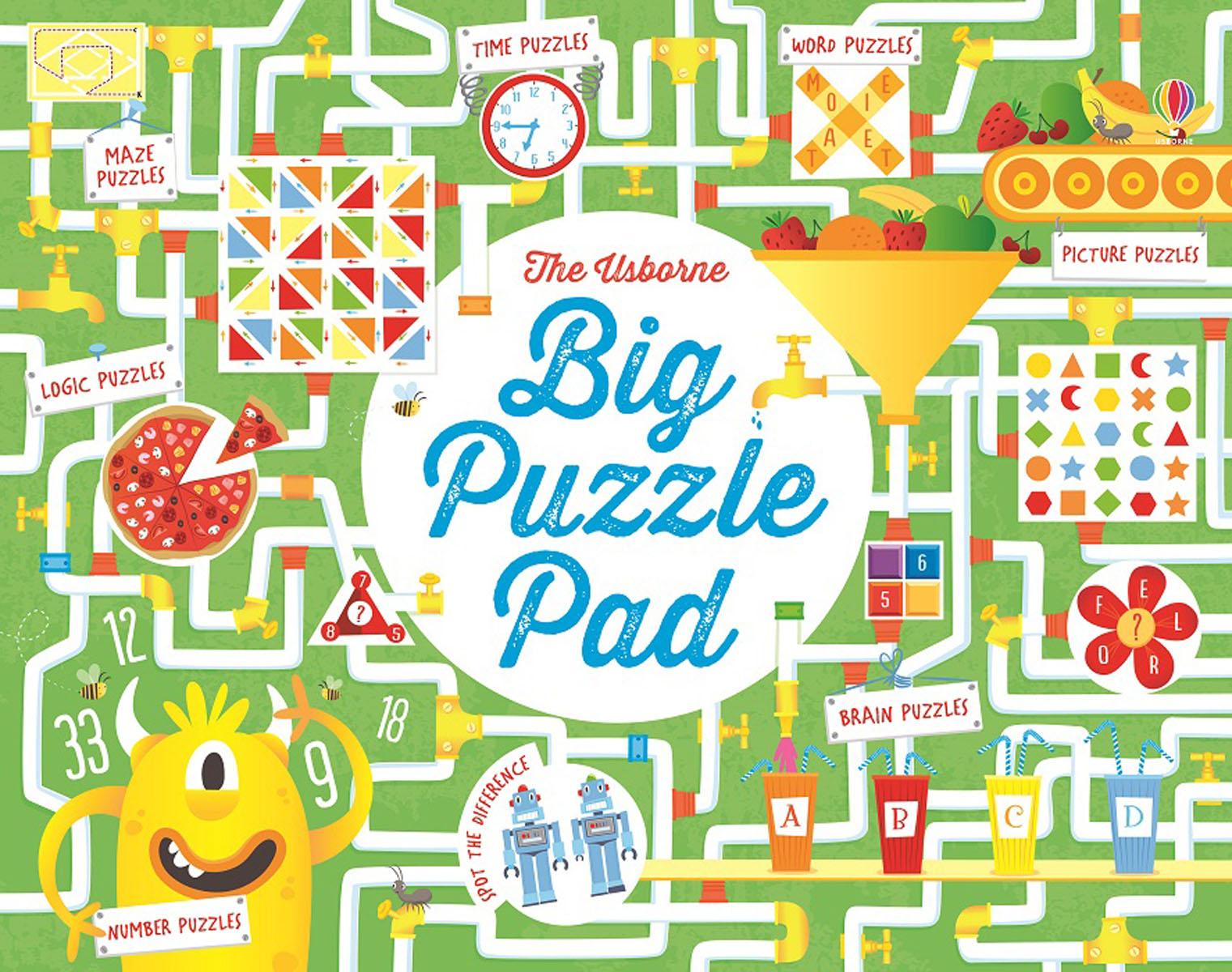Big Puzzle Pad brain sharpening memory puzzles