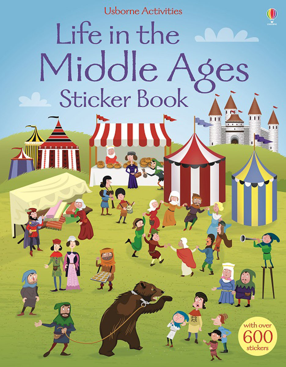 Life in the Middle Ages: Sticker Book chic canvas leather british europe student shopping retro school book college laptop everyday travel daily middle size backpack