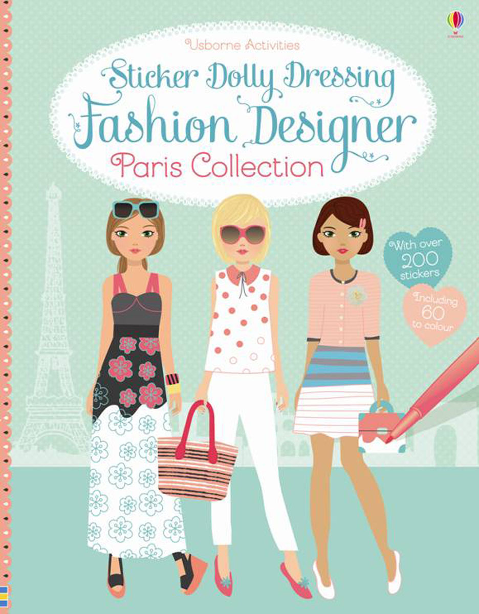 Sticker Dolly Dressing Fashion Designer Paris Collection эжен сю the mysteries of paris volume 1 of 6