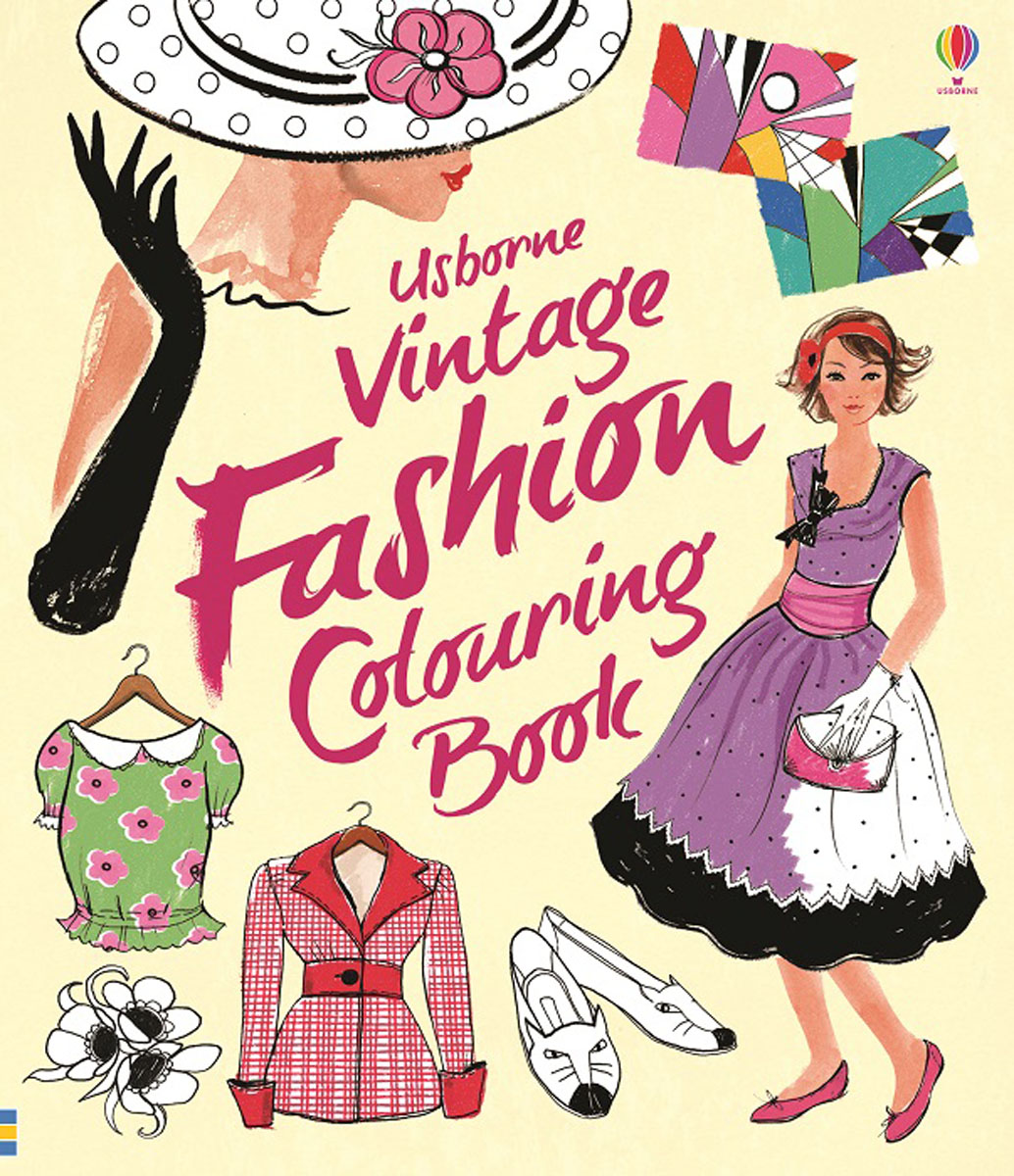 Vintage Fashion Colouring Book die hard the official colouring book