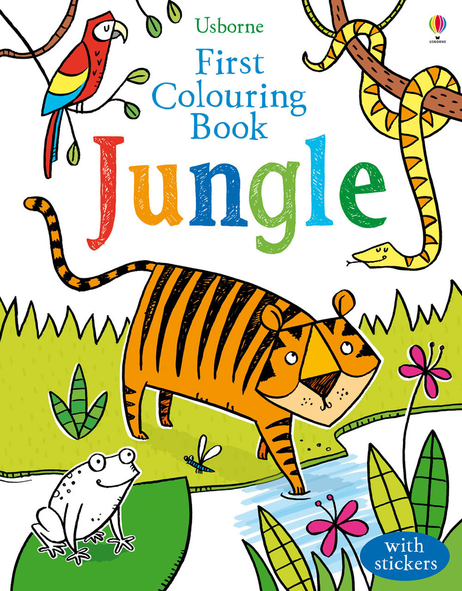 First Colouring Book Jungle first colouring book nativity