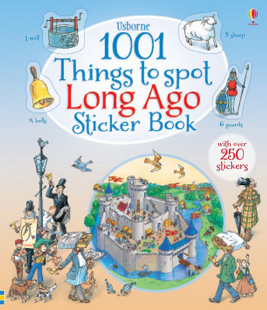 1001 Things to Spot Long Ago Sticker Book donerty gillian 1001 things to spot long ago
