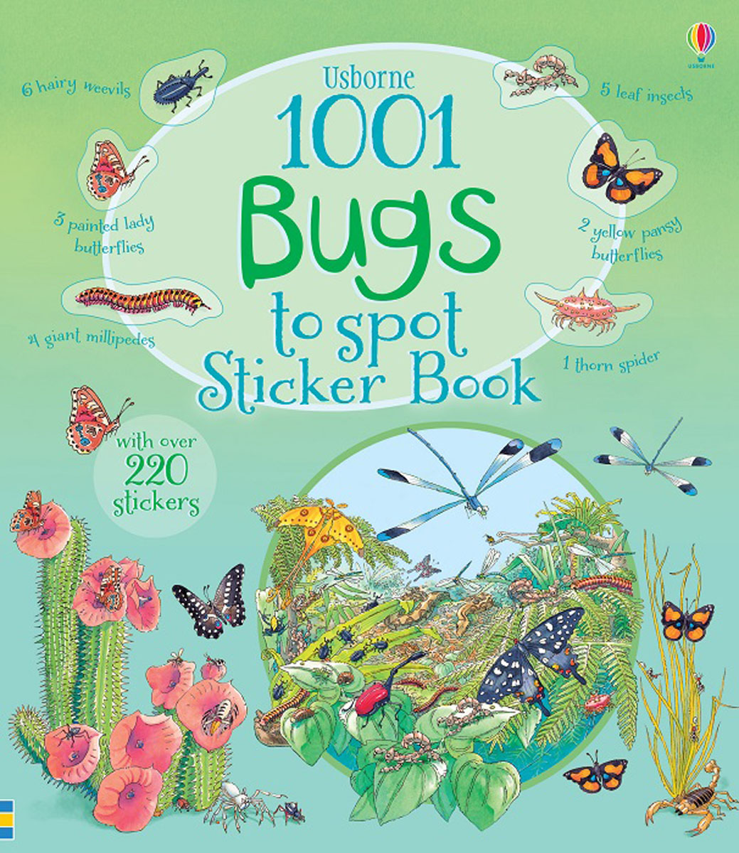 1001 Bugs to Spot Sticker Book bugs sticker book 400 reusable stickers