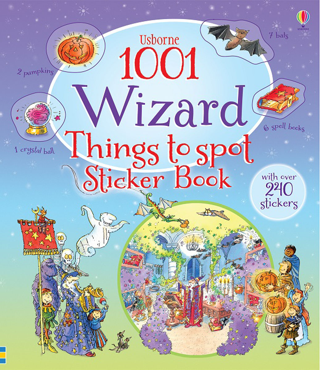 1001 Wizard Things to Spot Sticker Book donerty gillian 1001 things to spot long ago