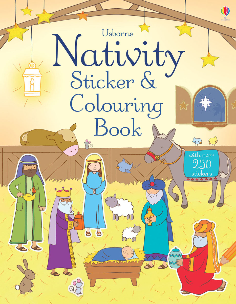 Nativity Sticker and Colouring Book santa first colouring book with stickers