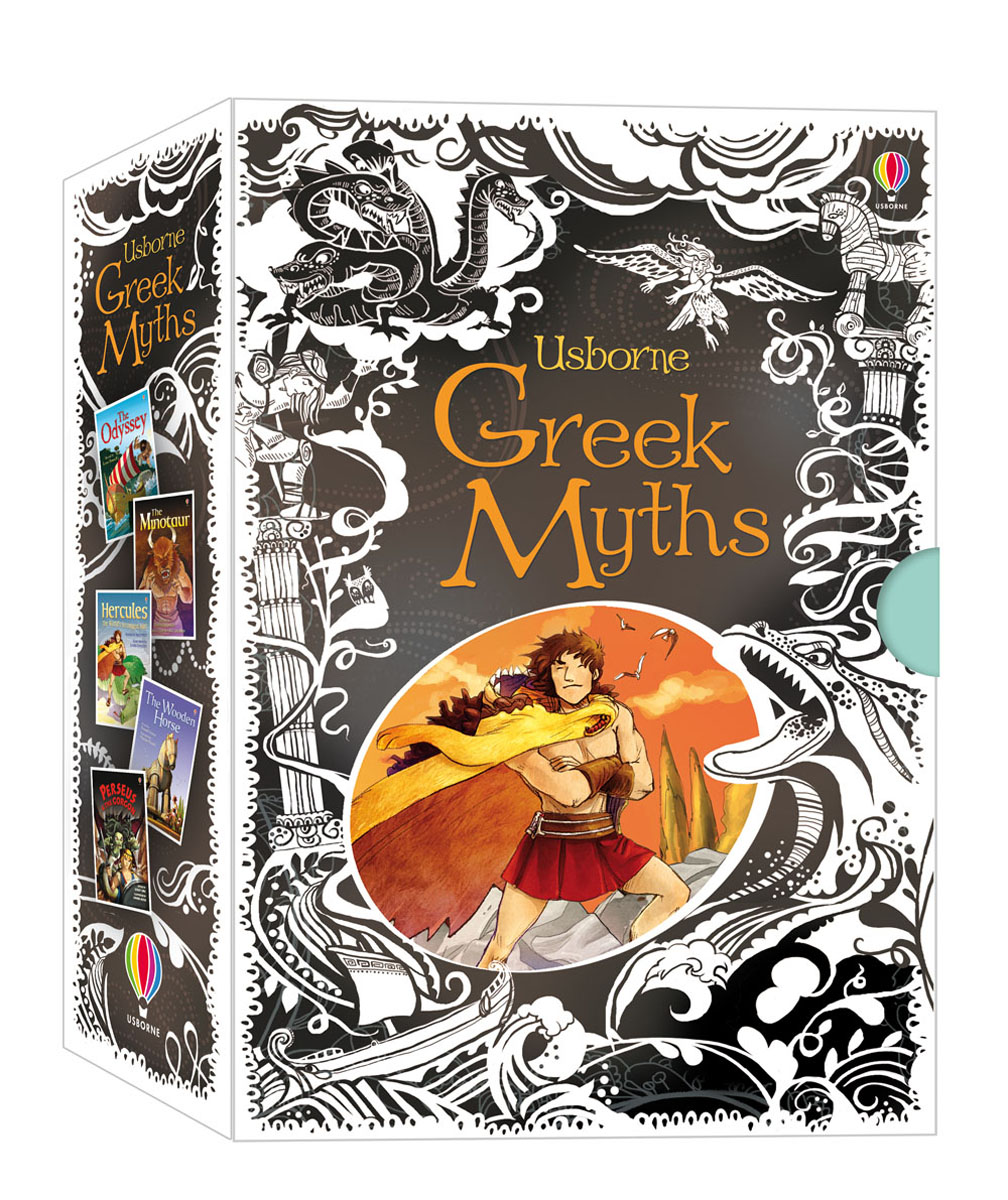 Greek Myths Collection Gift Set the box man