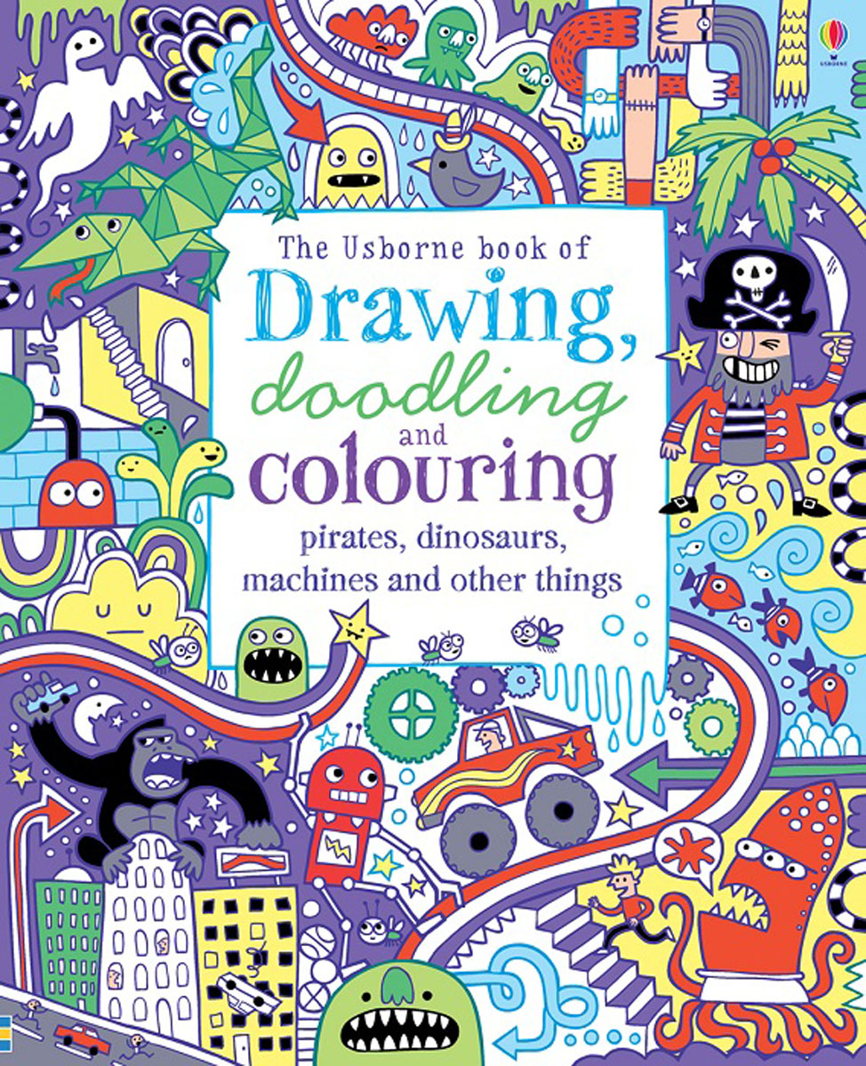 Drawing, Doodling Colouring Pirates, Dinosaurs, Machines and other things pocket doodling and colouring book blue book