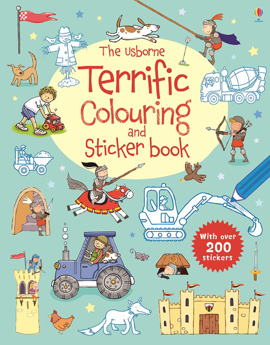 The Usborne Terrific Colouring and Sticker Book the usborne fantastic colouring and sticker book