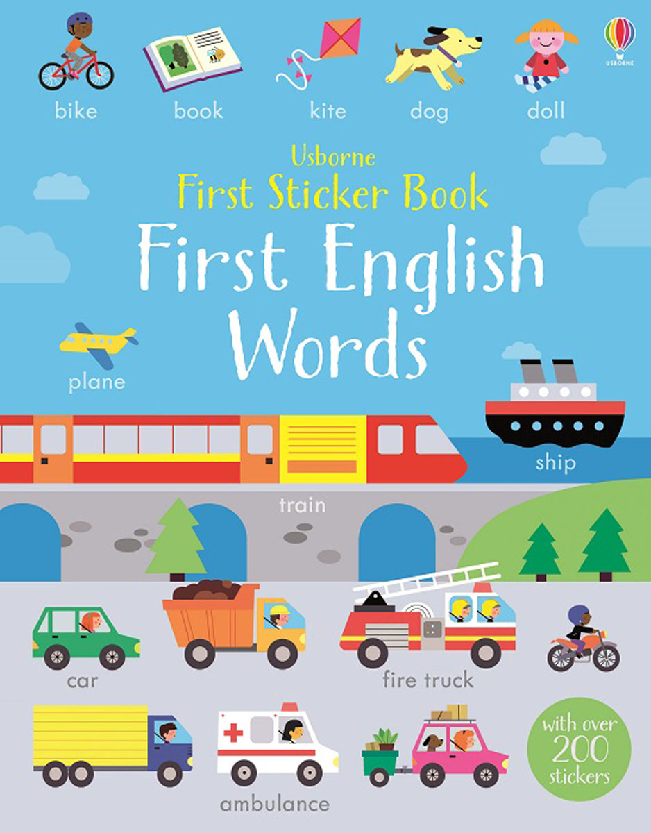 First Sticker Book First English Words first hundred words in english sticker book