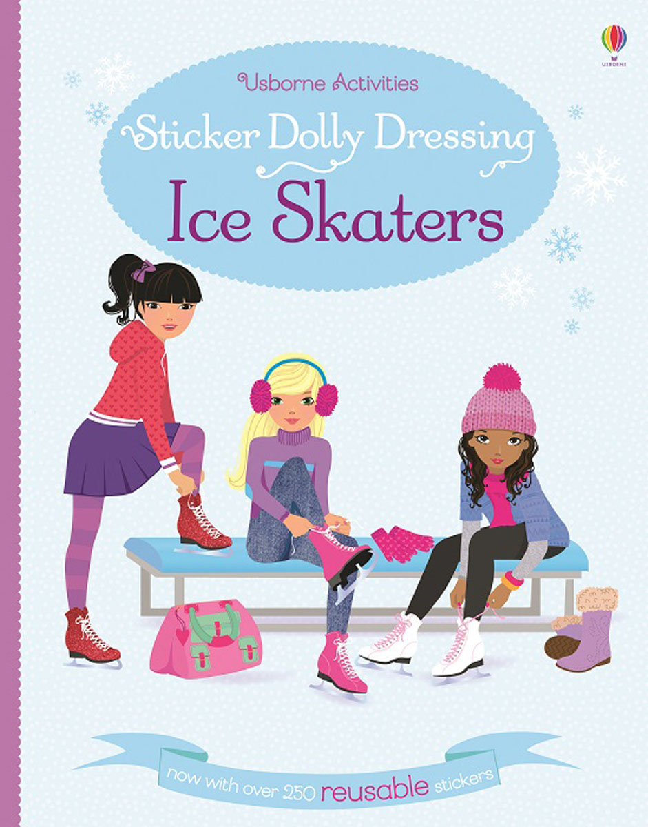 Sticker Dolly Dressing Ice Skaters sticker dolly dressing fancy dress