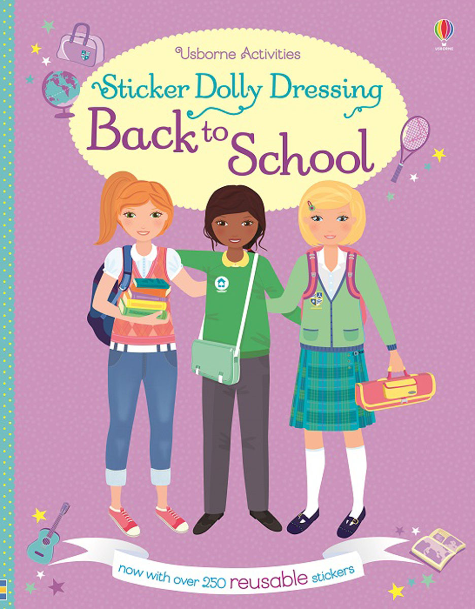 Sticker Dolly Dressing Back to School roger priddy let s get ready for school simple maths маркер