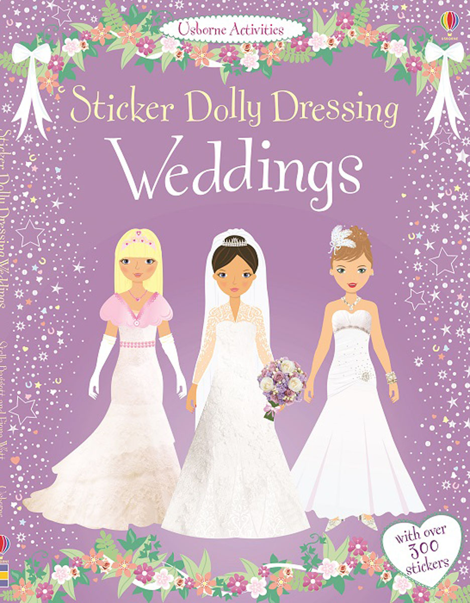 Sticker Dolly Dressing Weddings sticker dolly dressing fancy dress