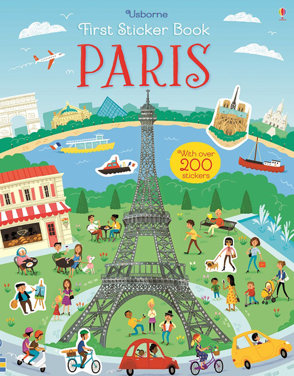 First Sticker Book Paris santa first colouring book with stickers