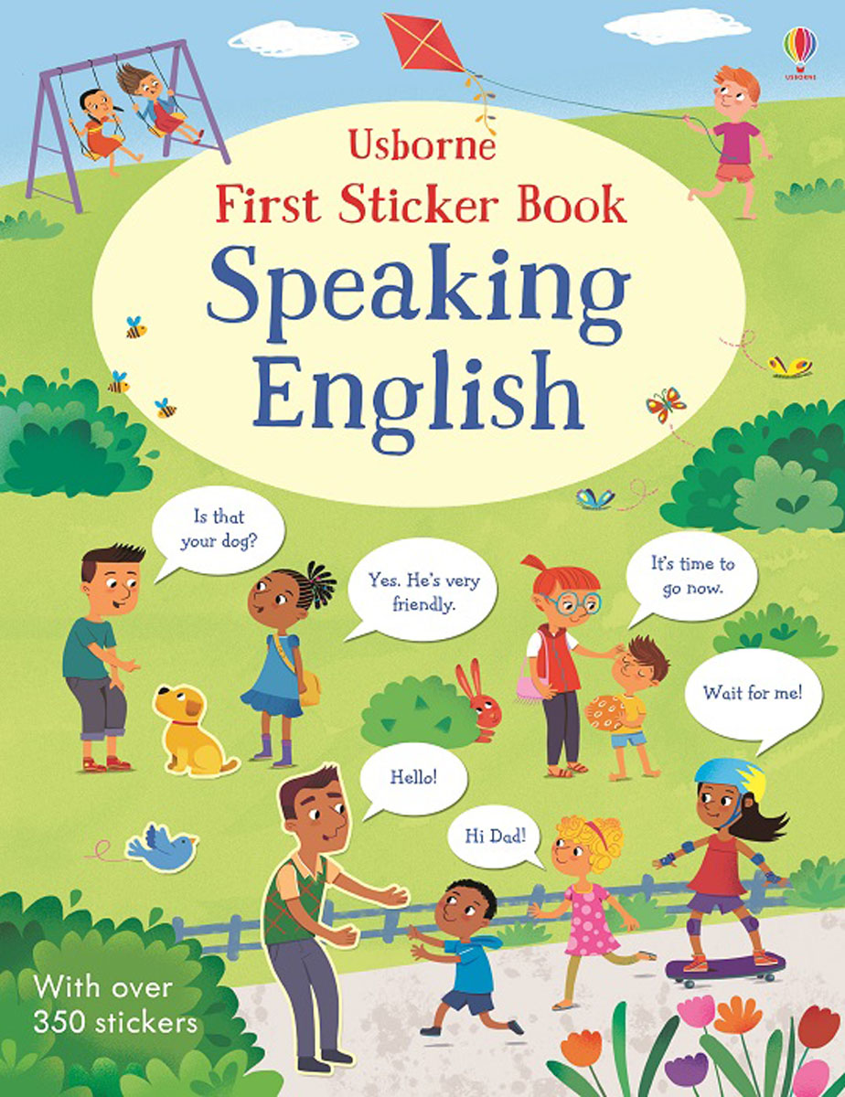 First Sticker Book Speaking English the usborne terrific colouring and sticker book