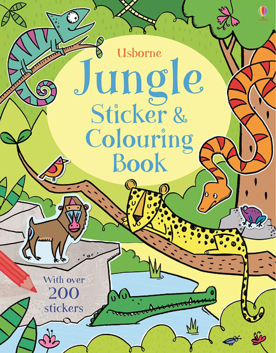 Jungle Sticker and Colouring Book the physical world wall map material laminated