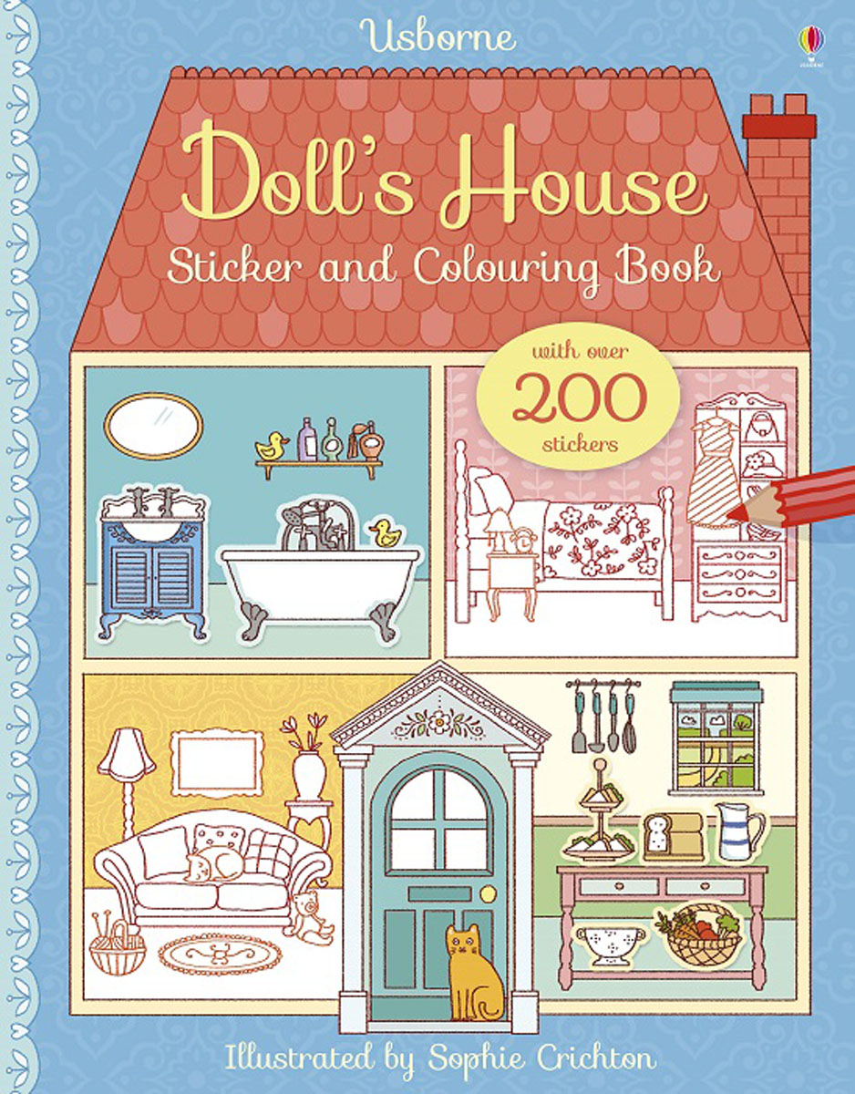 Doll's House Sticker and Colouring Book fairy ponies sticker and colouring book