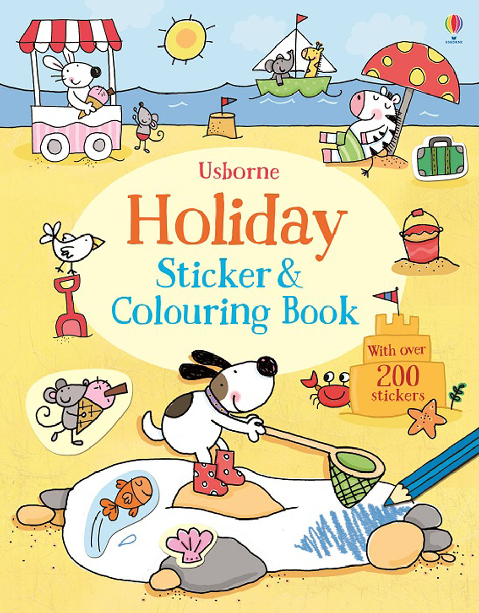 Holiday Sticker and Colouring Book happy holiday sticker activity book