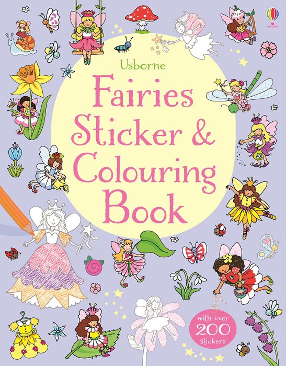 Fairies Sticker & Colouring Book cicely mary barker flower fairies of the winter