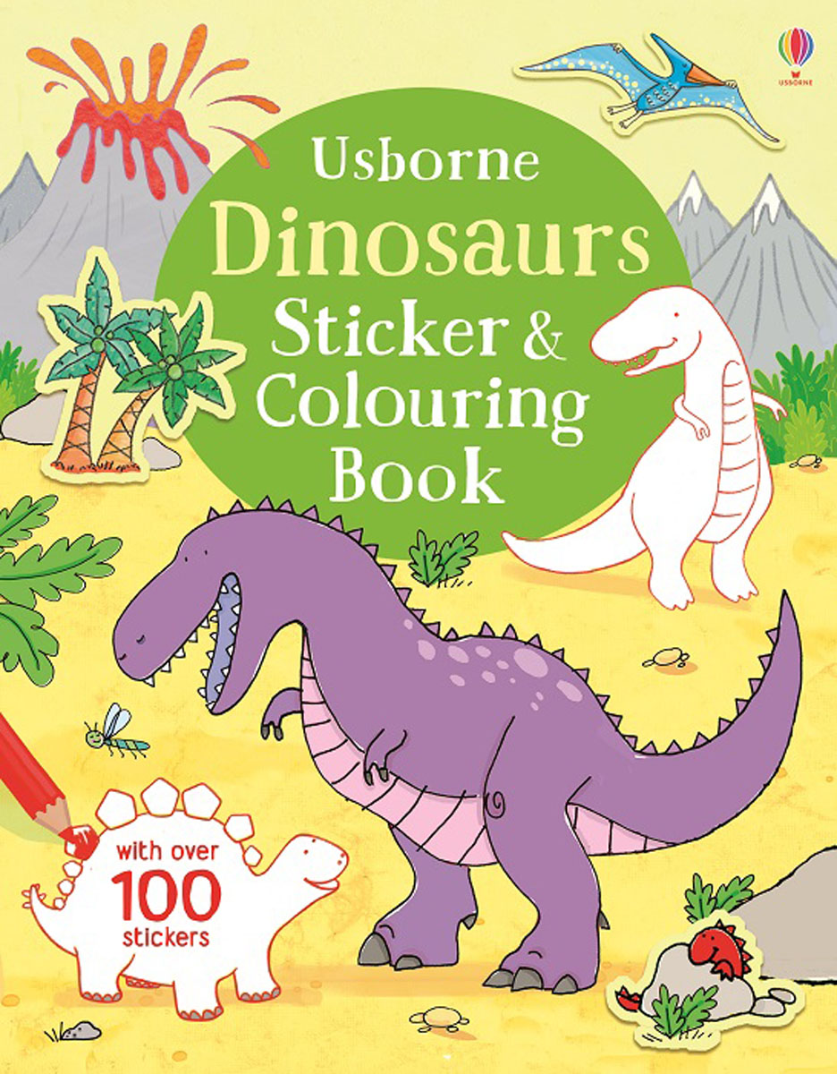 Dinosaurs Sticker & Colouring Book fairy ponies sticker and colouring book