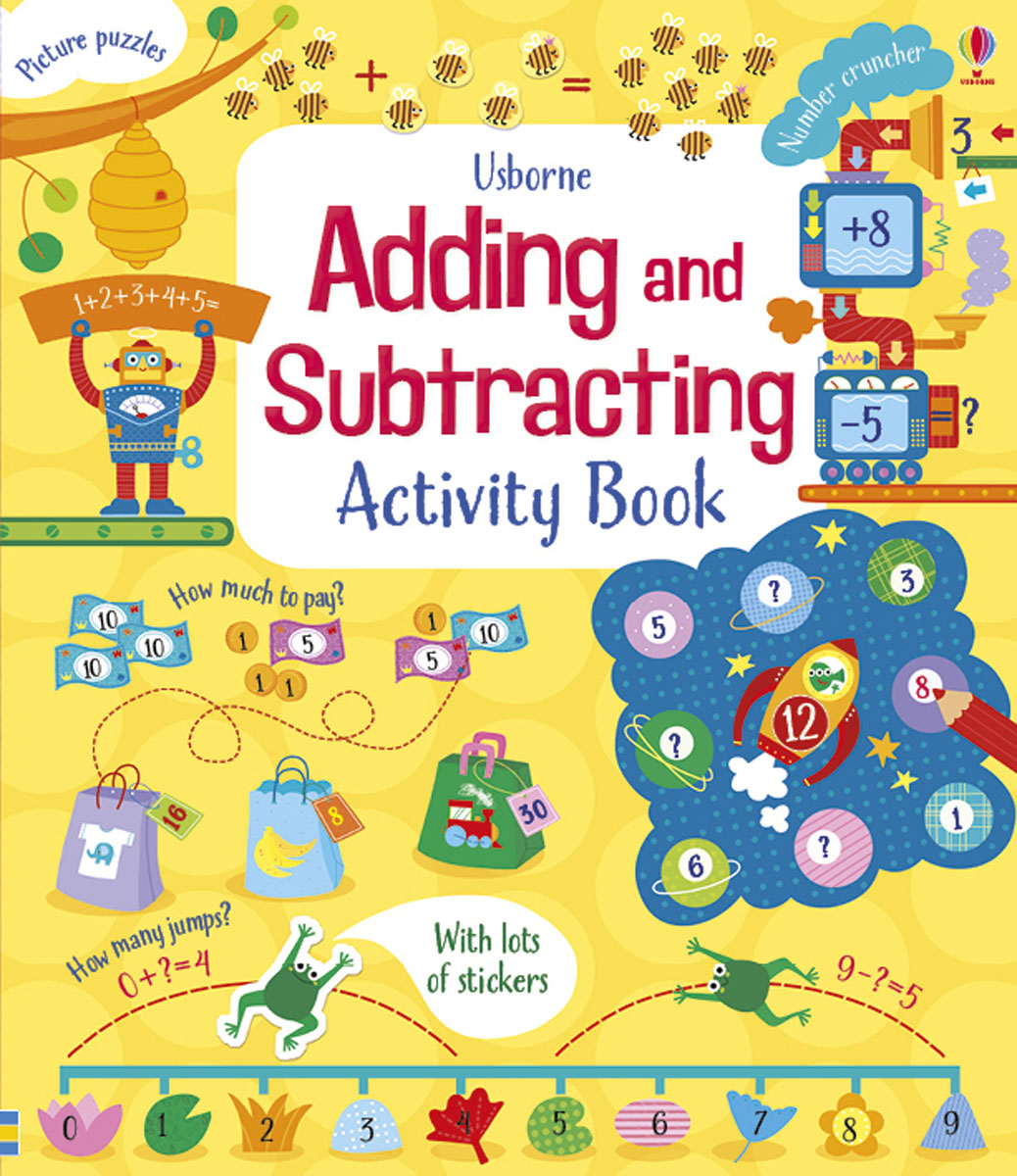 Usborne Adding and Subtracting Activity Book space activity book