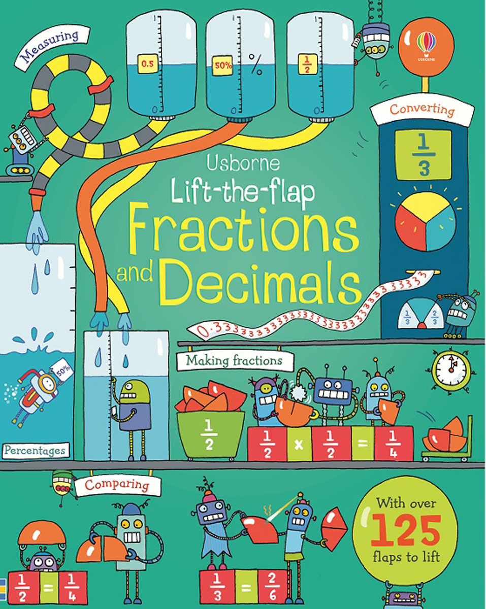 Lift-the-flap Fractions and Decimals supermarket gremlins lift the flaps book