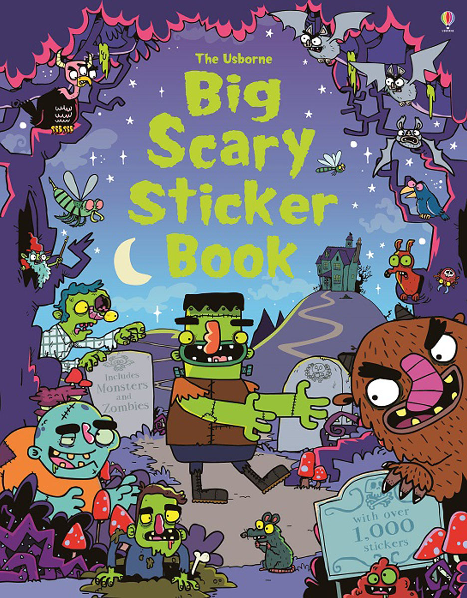Big Scary Sticker book monster high happy howlidays a creepy cool activity book
