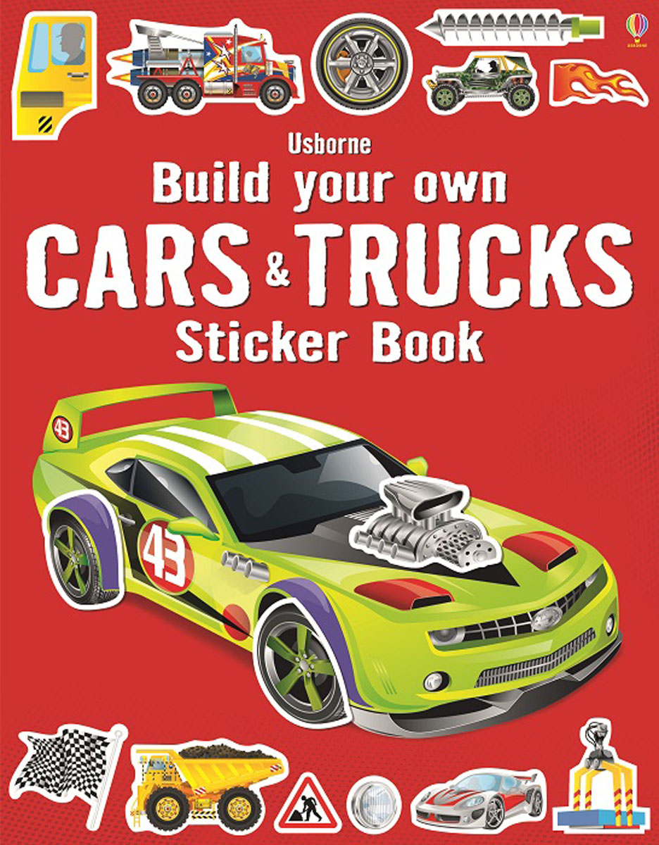 Build Your Own Cars and Trucks Sticker Book monster trucks