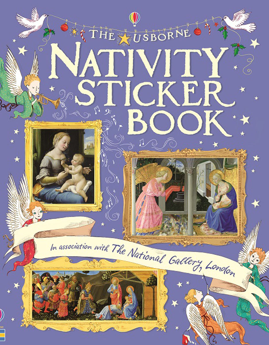 Nativity Sticker Book santa sticker and colouring book