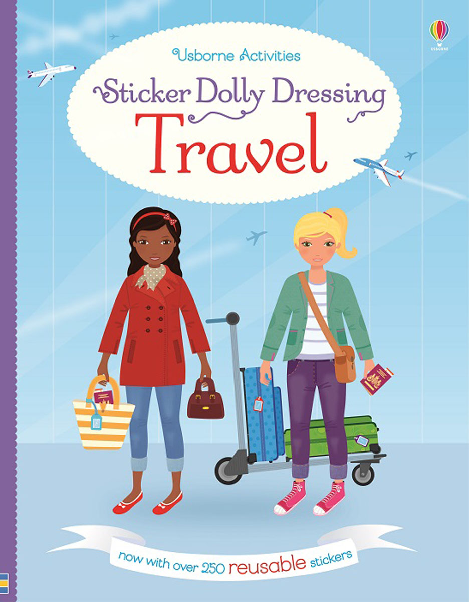 Sticker Dolly Dressing Travel sticker dolly dressing around the world