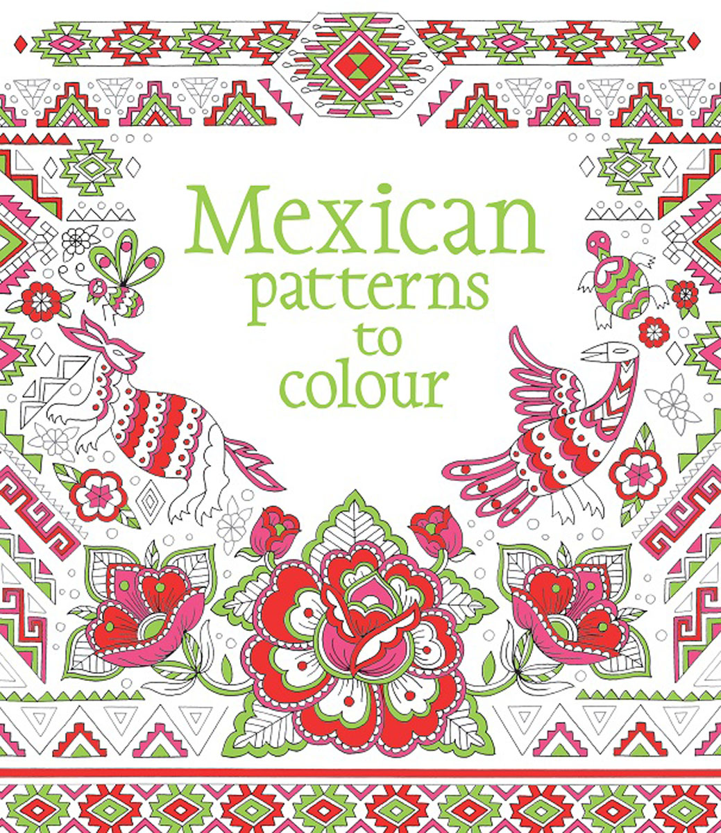 Mexican Patterns to Colour mexican patterns to colour