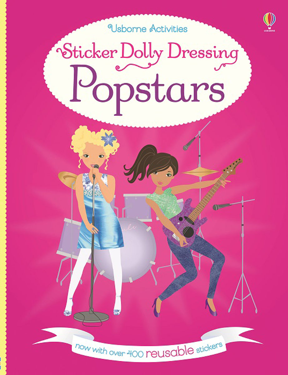 Sticker Dolly Dressing Popstars bugs sticker book 400 reusable stickers