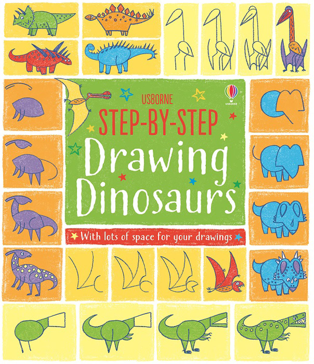 Step-by-Step Drawing Dinosaurs wooden multifunction drawing board three in one on the table fine arts black and white brand children drawing toys
