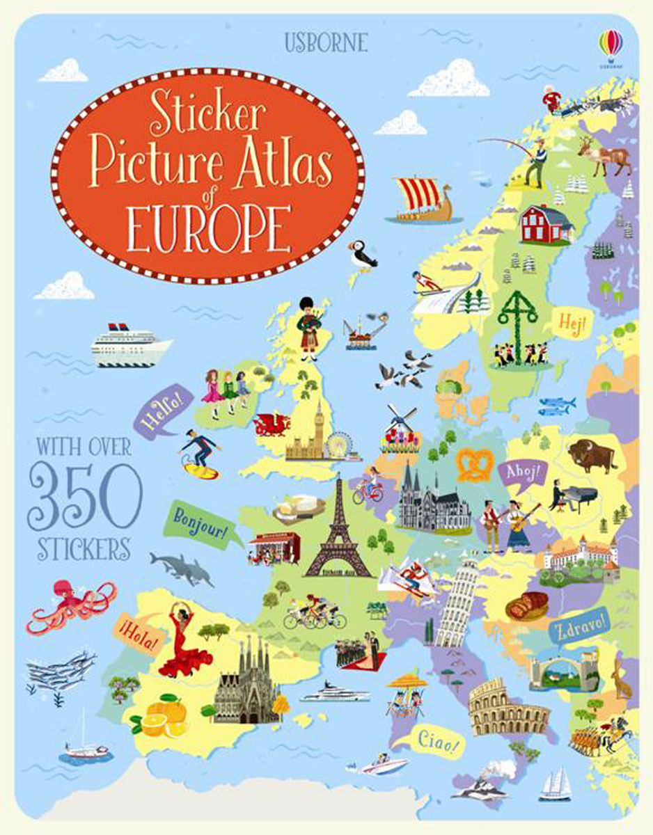 Sticker Picture Atlas of Europe the picture atlas