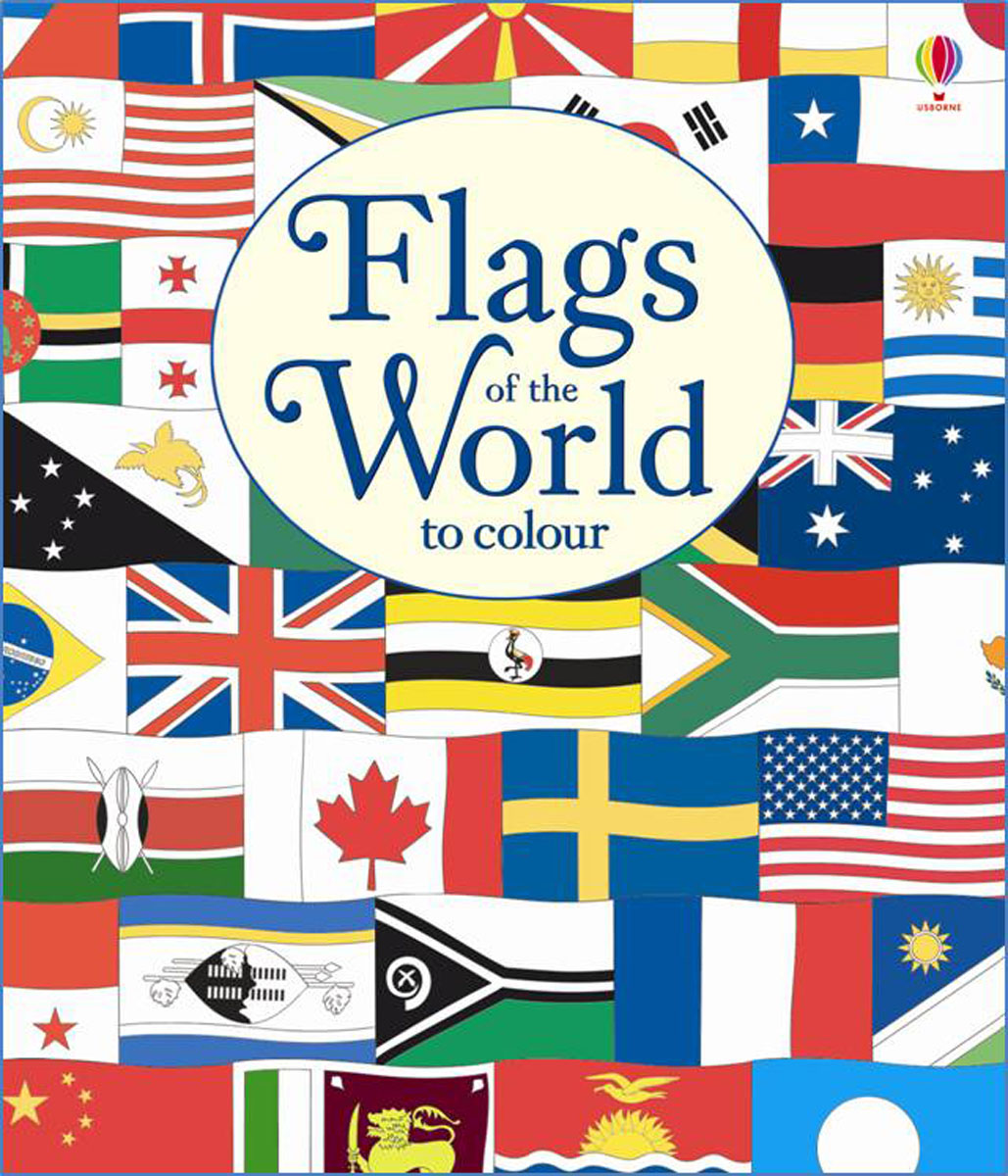 Flags of the World to Colour british museum around the world colouring book
