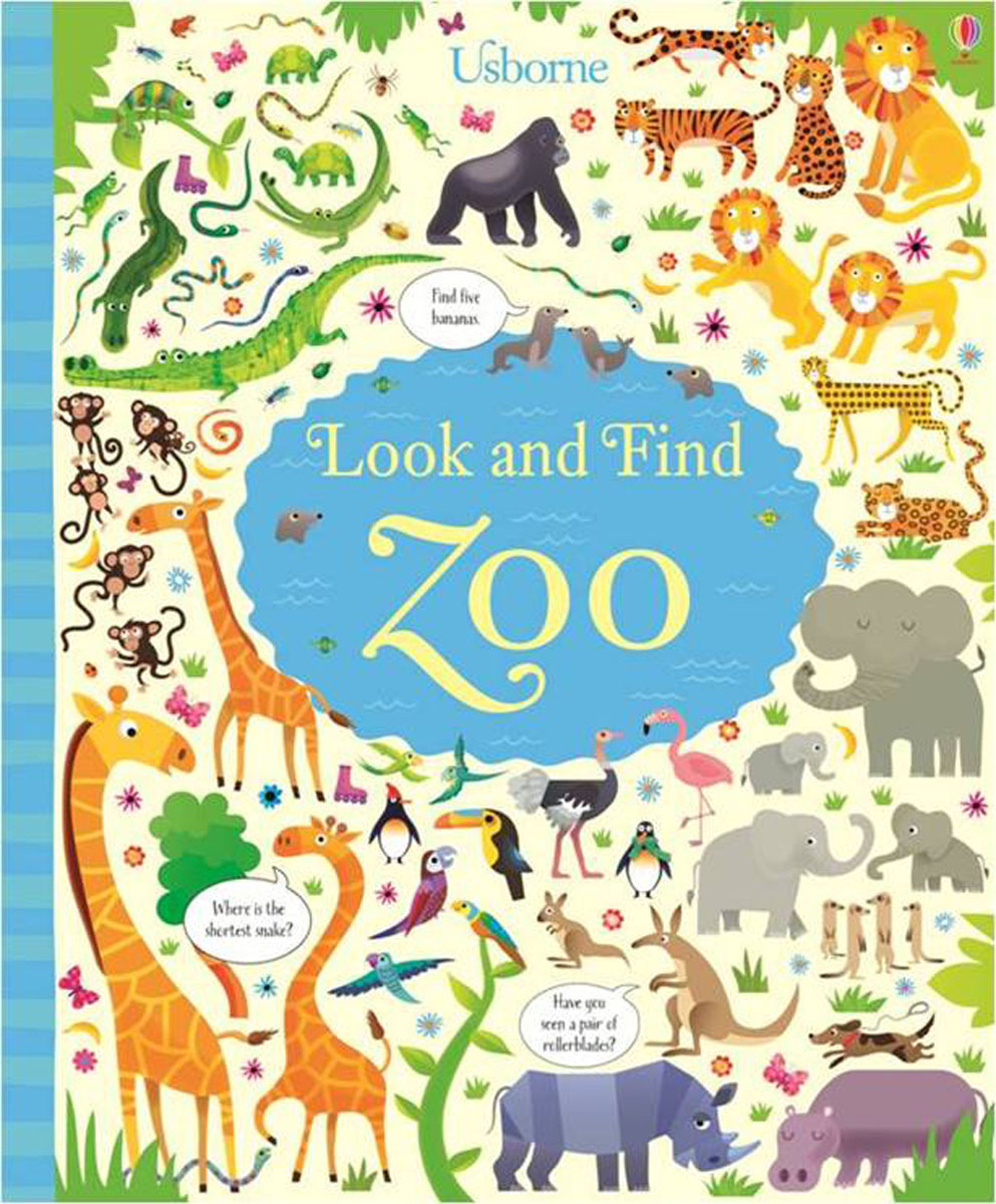 Look and Find Zoo spot dobble find it board game for children fun with family gathering the animals paper quality card