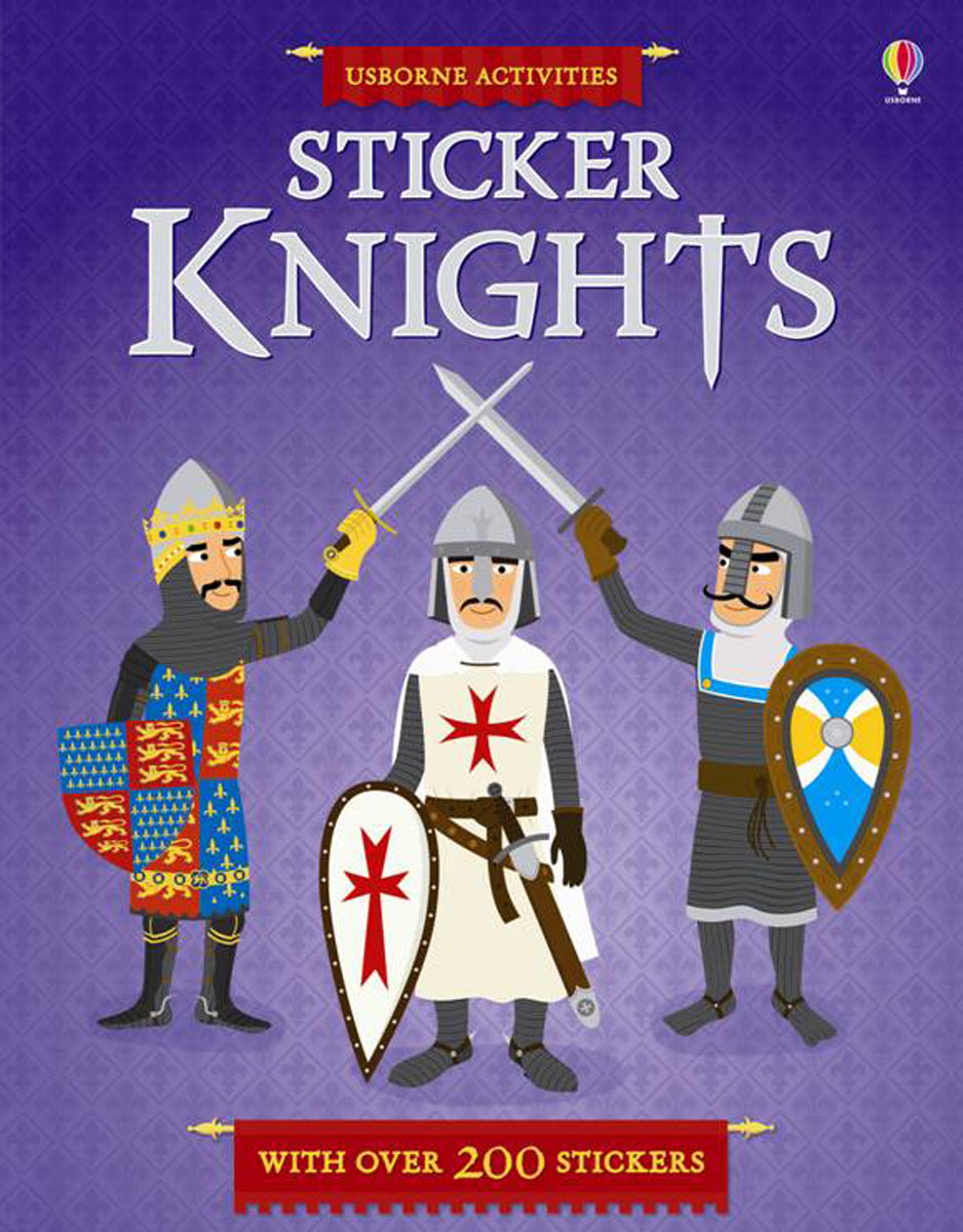 Sticker Knights knights and castles to colour
