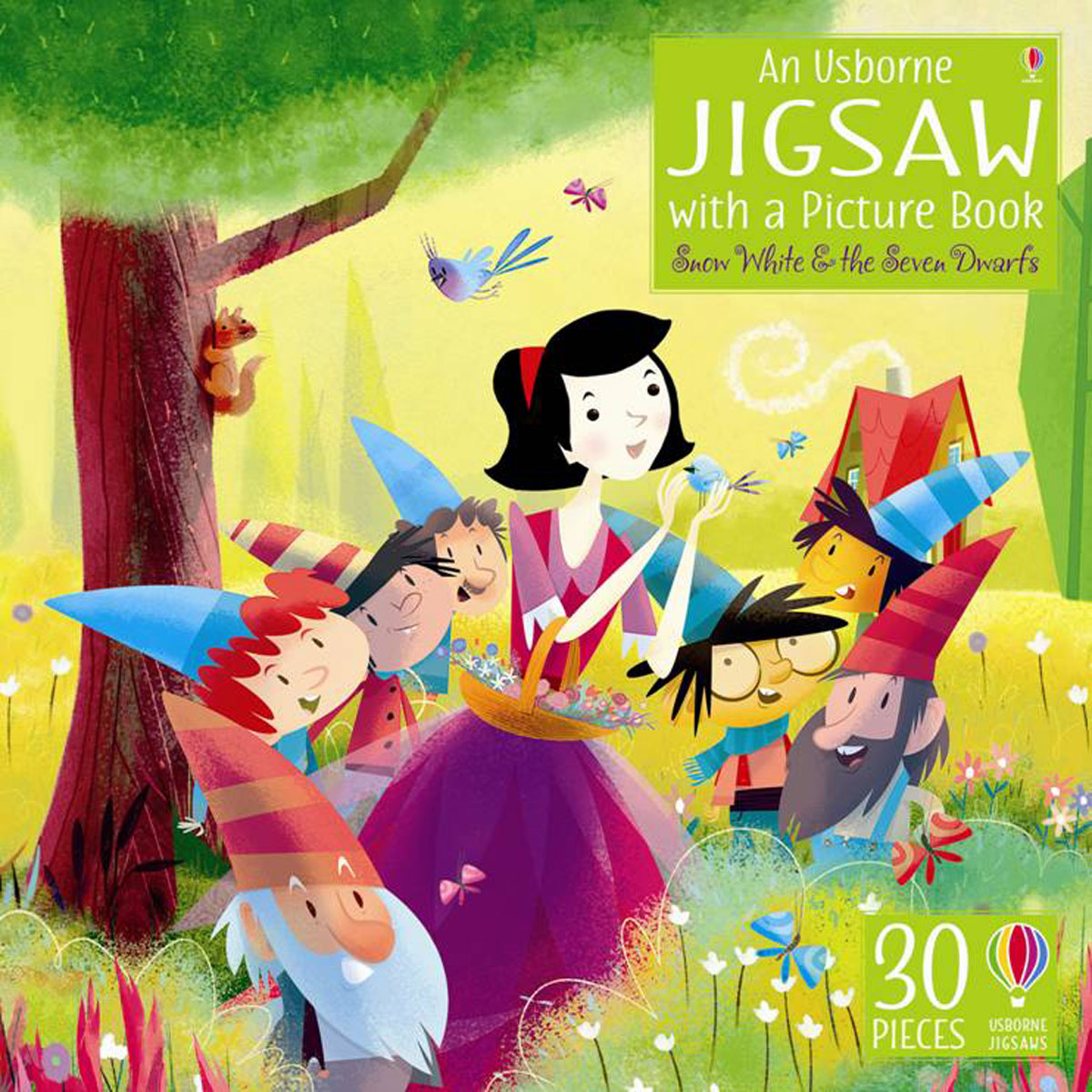 An Usborne Jigsaw with a picture book Snow White and the Seven Dwarfs
